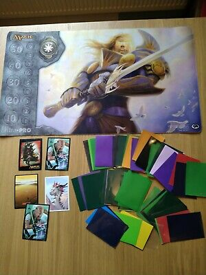Magic The Gathering Play Mat And Sleeves • 3£