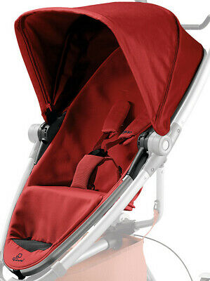Quinny Zapp Xtra 2 Spare Replacement Fabric Seat & Hood In Red Rumour  *NEW* • 34£