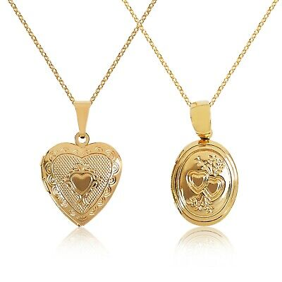 New 9ct Gold Locket Pendant Necklace Chain • 19.99£