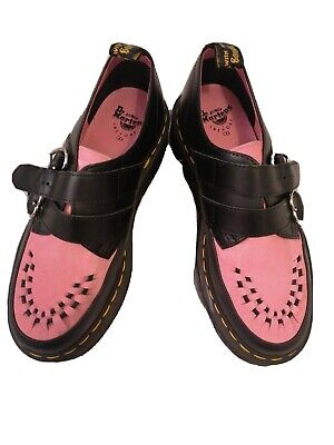 Dr Marten Lazy Oaf Creepers Black And Pink Size 6 No Box • 41£
