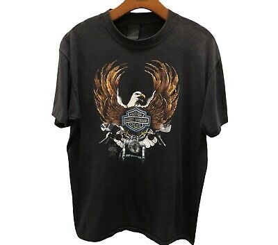 $ CDN209.05 • Buy Vtg 1985 Harley Davidson 3D Emblem Eagle Motorcycle Pasadena TX USA T-Shirt XL