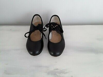 Girls Starlite Dance/Tap Shoes In Black Size 9 • 5£
