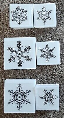 LaBlanche Set Of 6 SNOWFLAKE Foam Backed STAMPS Great Quality • 7.99£