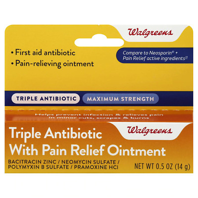 Walgreens Triple Antibiotic Generic Neosporin With Pain Relief Free EU Shipping • 7.49£