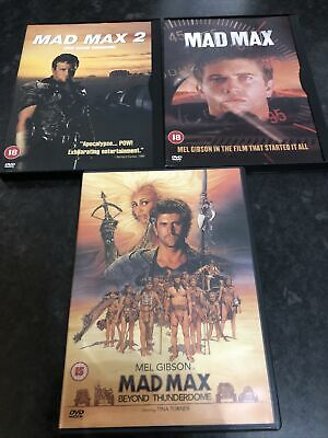 Mad Max 1, 2 And 3 Dvds, Mel Gibson • 0.99£