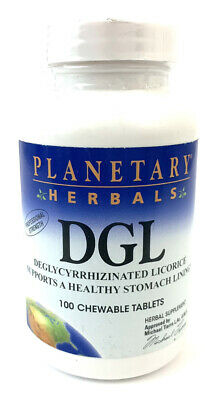 Planetary Herbals DGL, Chewable Tablets, 100 Tablets 01/24 Wxpire • 11.15£