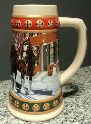 $ CDN12.18 • Buy 1993 Budweiser  Hometown Holiday  Holiday / Christmas Collector's Ceramic Stein