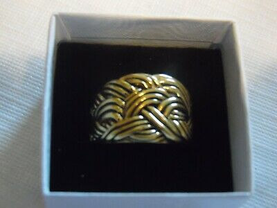 $ CDN13.07 • Buy Lia Sophia Gold Weave Ring  Captiva  Size 11 NEW
