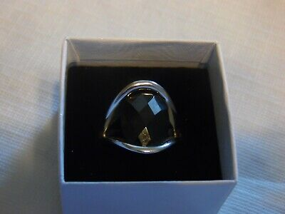 $ CDN13.07 • Buy Lia Sophia Silver With Large Black Stone Ring  Incognito  Size 11 NEW