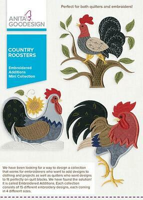 $13.99 • Buy Country Roosters Anita Goodesign Embroidery Machine Design CD