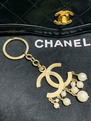 £482.71 • Buy Chanel Genuine Key Chain Key Charm Coco Pearl Necklaces Also M86709382