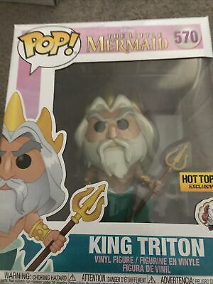 The Little Mermaid King Triton Hot Topic Excl 6  Pop! Vinyl • 4.99£