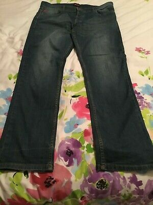 "Lee Cooper Jeans Size 38"" Waist 34  L Button Fly Stretch Denim • 5£"