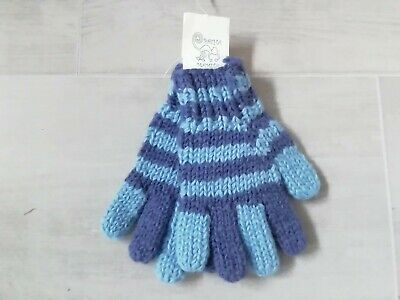 Pachamama Boys 100% Wool Strpey Gloves Ethically Sourced Hand Made In Nepal  • 9.99£