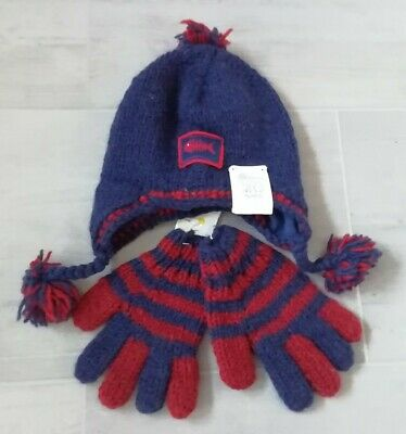 Pacha Mamita Kids Boys 100% Wool Lined Hat & Gloves Set Ethically Sourced  • 17.99£