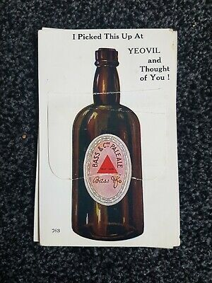 Rare Vintage Valentines's Yeovil South Somerset England Pull Out Postcard • 7.99£
