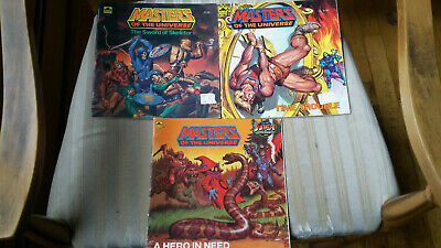 $8.50 • Buy Vintage 1980s Golden Books Masters Of The Universe MOTU He-Man - Lot Of 3