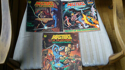 $8.50 • Buy Vintage 1980s Golden Books Masters Of The Universe He-Man MOTU - Lot Of 3