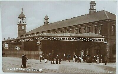 £10 • Buy L And Y Station, Bolton. Real Photo. Postcard