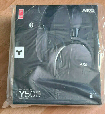 AKG Y500 On The Ear Wireless Headphones - Black (BRAND NEW SEALED) • 31£