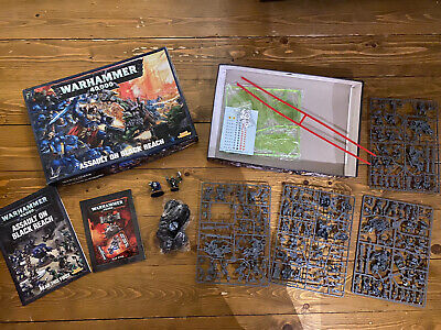 Warhammer 40,000 40k Assault On Black Reach Set, Only 2 Figures Painted! • 82£