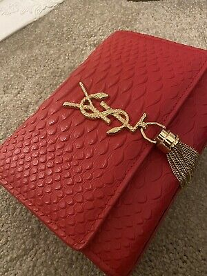 YSL STYLE Red Gold Clutch Snakeskin Bag Brand New MUST READ DESCRIPTION • 120£