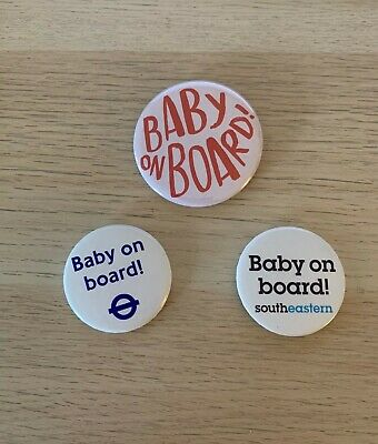Pregnant Mum Baby On Board Pin Button Badge • 2.70£