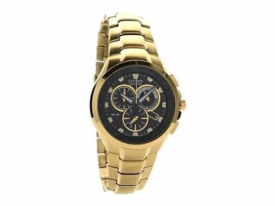 Citizen Gold Plated Chronograph Bracelet Watch AT0902-59E • 149.99£
