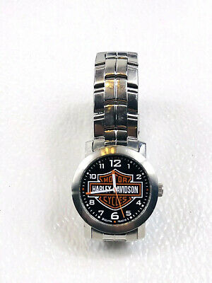 Bulova Men's Harley-Davidson Bar & Shield Wrist Silver Watch 76A019 • 74.93£