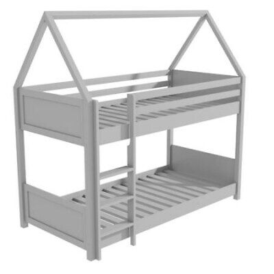 Kids Grey Wooden Bunk Bed Boys Girls Unisex NEW • 359£