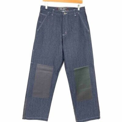 £49.54 • Buy GUESS VTG 90s Straight-Leg Blue Jeans With Unique Black Rubber Accents 32x32 New
