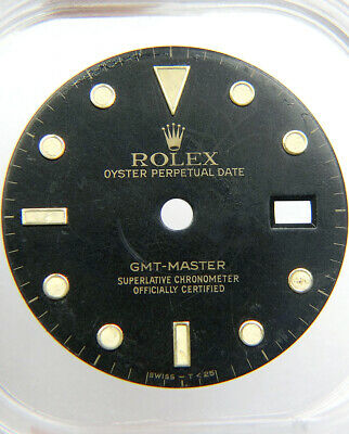 $ CDN325.85 • Buy Vintage Genuine Rolex GMT-MASTER 16753 16758 Faded Black Tritium Watch Dial