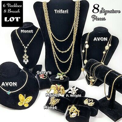 $ CDN6.55 • Buy Vintage To Now Jewelry Lot Of 14 Monet Crown Trifari AVON 8 Are Signature Pieces