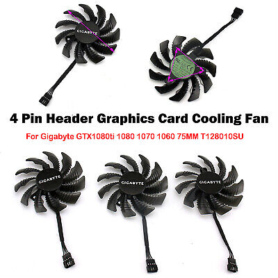 AU14.40 • Buy Graphics Card Cooling Fan For Gigabyte GTX1080ti 1080 1060 75MM T128010SU Parts