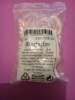 Shower Curtain Rings From Ikea • 1.50£
