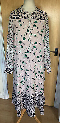 Boden Ladies Dress 20 Floral Ditsy Tea Smart Casual Long Sleeves Work Occasion  • 34.99£