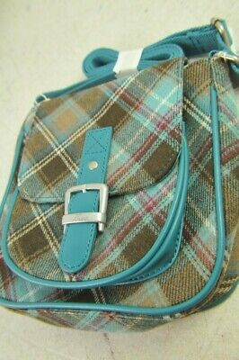 Ness Sandy Watch Classic Blue & Brown Tweed Small Shoudler Bag & Matching Purse • 19.99£
