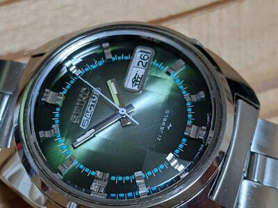 $ CDN1002.07 • Buy Seiko 5 Actus 7019-7210 Vintage Day Date 21 Jewels Green Automatic Mens Watch