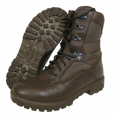 British Army Surplus YDS Brown Leather Army Combat Boot - UK Size 8 • 20£