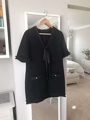 Zara Boucle Dress With Chanel Buttons Size S • 30£