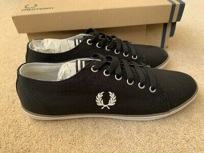 Fred Perry Canvas Shoes/Trainers B6259U In Black Size 8 Eur 42 • 29.95£
