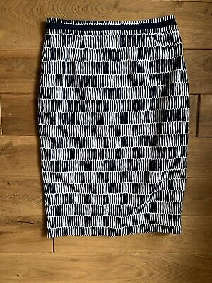 Boden - Tailored, Fully Lined Cotton Print Pencil Skirt - Size  10 L • 5£