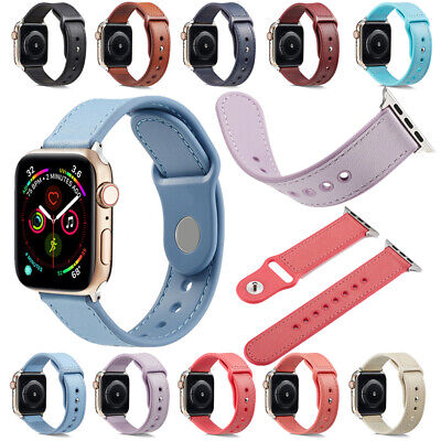 $ CDN15.80 • Buy For Apple Watch Series 6/5/4/3/2/1 Genuine Leather +TPU Watch Band Strap Sports