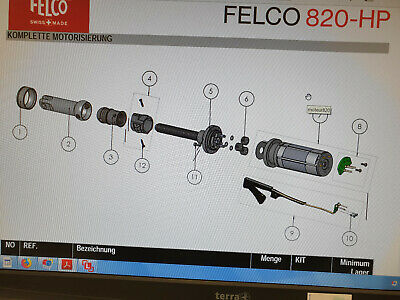 Original Spare Part Felco 820: Picture Position 7 Complete Motor With PCB • 451.52£