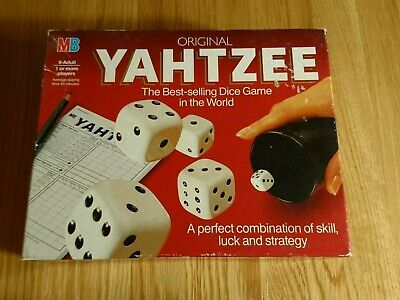 Vintage Original Yahtzee MB Games, Opened But Never Played • 2.60£