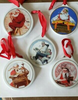 $ CDN26.18 • Buy  Lot Of 5 Vintage Christmas Norman Rockwell Collector's Series Ornaments
