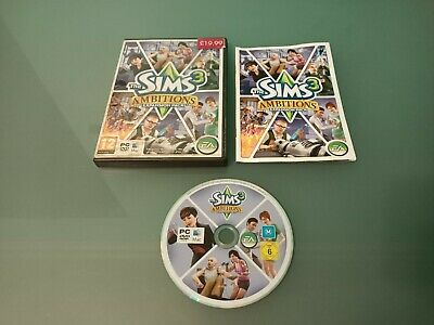 The Sims 3 Ambitions Pc Expansion Pack Complete Good Condition • 3.95£