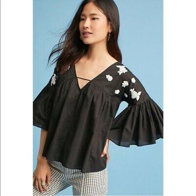 $ CDN32.65 • Buy Maeve Anthropologie HARLOW Embroidered Blouse     Size: XS