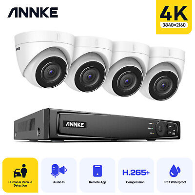 ANNKE 8CH 4K Video NVR CCTV System 8MP POE Network Home Security Camera Kit IP67 • 429.99£