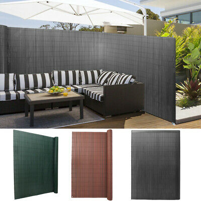 PVC Garden Privacy Fence Artificial Bamboo Mat Screening Roll Border Wind Panels • 25.95£